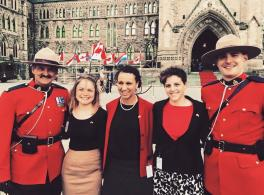 Photo of Ohio State students at the Canadian Parliament