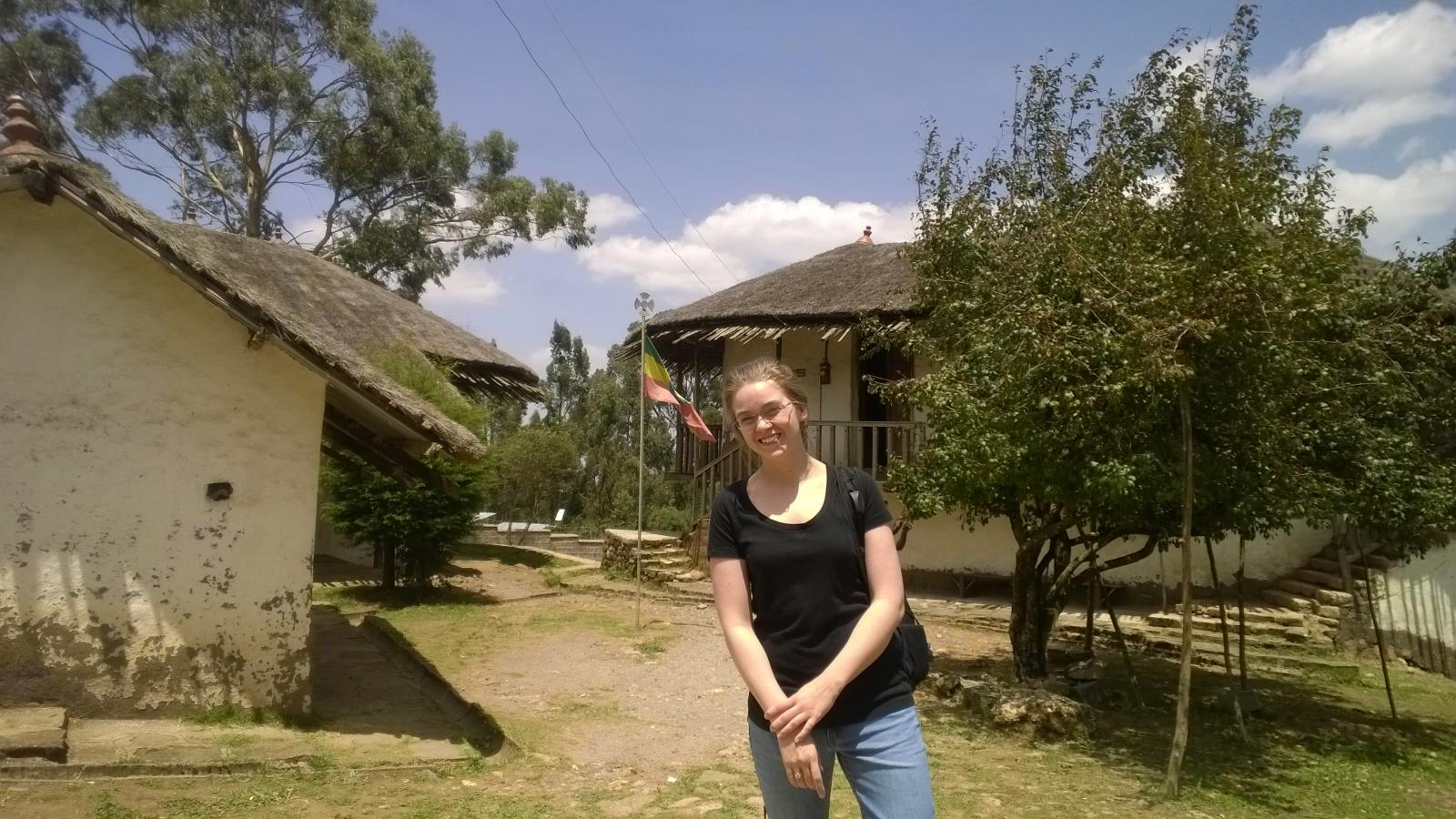 PhD Student Caitlin Clary doing field work in Ethiopia